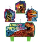 Jurassic World Happy Birthday Mini Moulded Candle Pack of 4