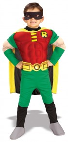 Teen Titans DC Comics Robin Muscle Chest Deluxe Toddler / Child Costume