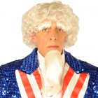 Men's Patriotic Uncle Sam 4th of July Wig / Goatee/ Eyebrows