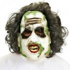 Beetlejuice 3/4 Vinyl Mask with Hair Men's Costume Accessory