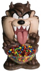 Looney Tunes Taz Candy Lolly Bowl