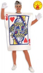 Queen of Hearts Playing Card Adult Costume Standard