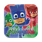 PJ Masks Square Paper Luncheon Plates Pack of 8