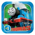Thomas the Tank Engine All Aboard Square Paper Luncheon Plates Pack of 8