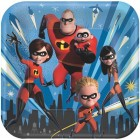 Incredibles 2 Square Paper Dinner Plates Pack of 8