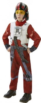 Star Wars Episode VII The Force Awakens Poe Dameron X-Wing Fighter Deluxe Tween Costume