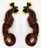 The Wiggles Emma Yellow Wiggle Pigtails With Bows Child Costume Accessories