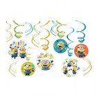 Despicable Me Minion Made Hanging Swirl Decorations Value Pack of 12