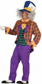 Plaid Mad Hatter Adult Costume One Size