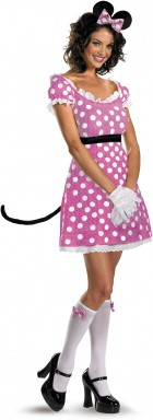 Sexy Pink Minnie Mouse Adult Women's Costume