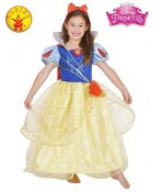 Snow White Glitter and Glow Child Costume 4-6
