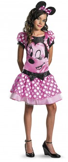 Mickey Mouse Clubhouse - Pink Minnie Mouse Tween Girl's Costume 14-16