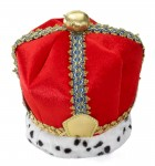Medieval Men's Velvet King Crown Costume Accessory