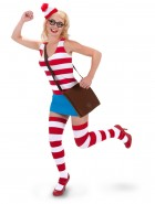 Where's Waldo Sexy Dress Adult Women's Costume