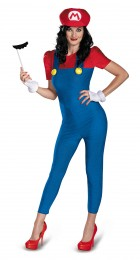 Super Mario Bros. - Mario Female Deluxe Plus Size Adult Women's Costume