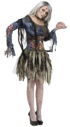 Female Complete Zombie Adult Women's Costume