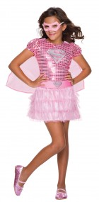 Pink Supergirl Sequin Toddler Costume