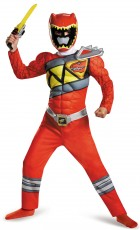 Power Rangers Dino Charge Red Ranger Muscle Child Costume