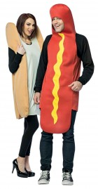 Hot Dog And Bun Adult Couples Costume