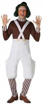 Willy Wonka Oompa Loompa Deluxe Adult Costume