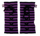 Monster High Child Arm Warmers Purple Black Knit