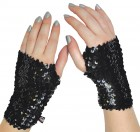 Monster High Arm Warmers Black Sequin Child