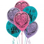 Frozen Latex Balloons Pack of 6