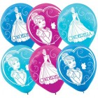 Cinderella Sparkle Party Latex Balloons Pack of 6
