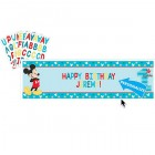 Mickey Mouse Fun to Be One 1st Birthday Plastic Banner