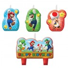 Super Mario Bros. Happy Birthday Mini Moulded Candle Pack of 4
