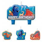 Finding Dory Happy Birthday Mini Candles Pack of 4