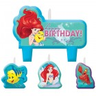 The Little Mermaid Ariel Happy Birthday Mini Moulded Candle Pack of 4