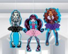 Monster High Honeycomb Hanging Decorations Pack of 3