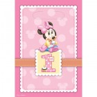 Minnie Mouse 1st Birthday Plastic Loot Bags Pack of 8