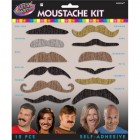 Let's Party Moustaches Pack of 12
