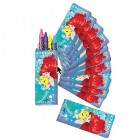 The Little Mermaid Ariel Crayon Favors Pack of 12