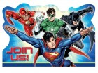 Justice League Invitations & Envelopes Pack of 8