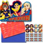 DC Superhero Girls You're Invited Invitations Pack of 8