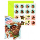 Moana Epic Party Invitations Pack of 8