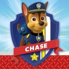 Paw Patrol Chase 2 Ply Beverage Napkins Pack of 16