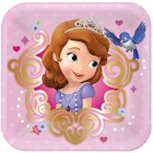 Sofia the First Square Paper Luncheon Plates 18cm Pack of 8