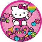 Hello Kitty Rainbow Paper Luncheon Plates 18cm Pack of 8