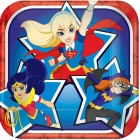 DC Superhero Girls Square Paper Luncheon Plates Pack of 8