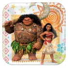 Moana Square Paper Luncheon Plates Pack of 8
