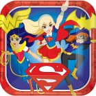 DC Superhero Girls Square Paper Dinner Plates Pack of 8
