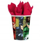 Justice League Paper Cups 266ml Pack of 8