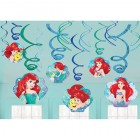 The Little Mermaid Ariel Hanging Swirls Pack of 12
