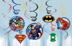Justice League Hanging Swirl Decorations Value Pack of 12