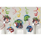 Avengers Epic Hanging Swirl Decorations Value Pack of 12