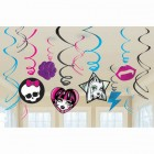 Monster High Hanging Swirls With Cutouts Value Pack of 12